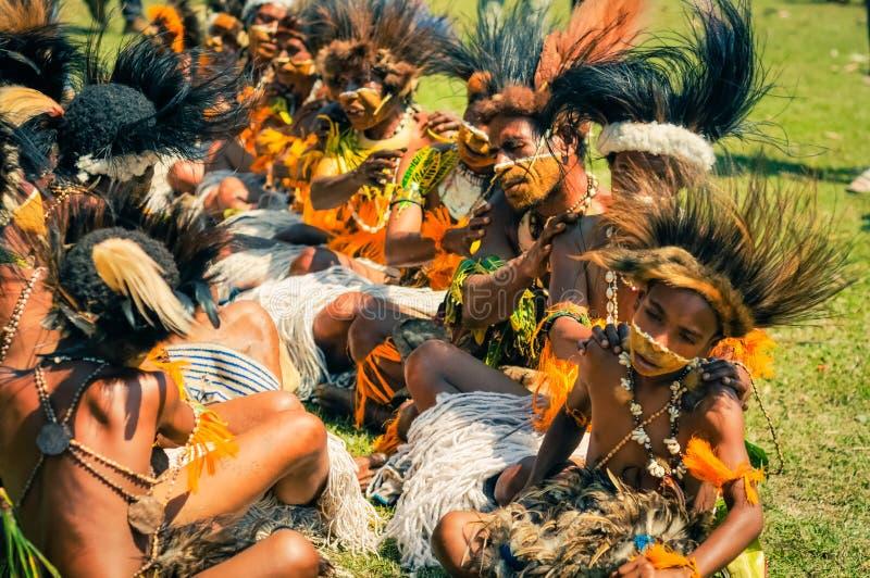 人在巴布亚新几内亚 免版税图库摄影