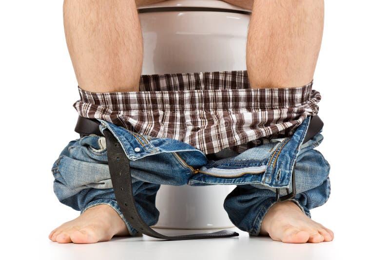 人坐的洗手间 图库摄影