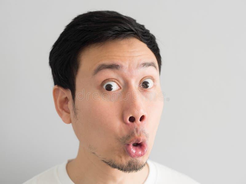 人头射击的震动面孔 图库摄影