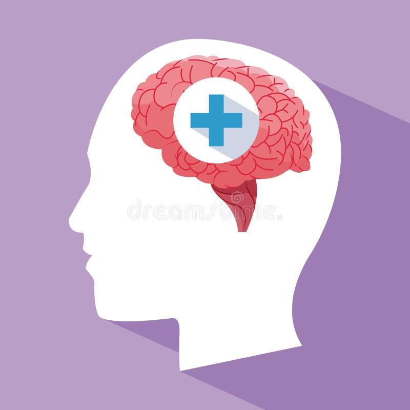 人头脑子卫生保健 向量例证