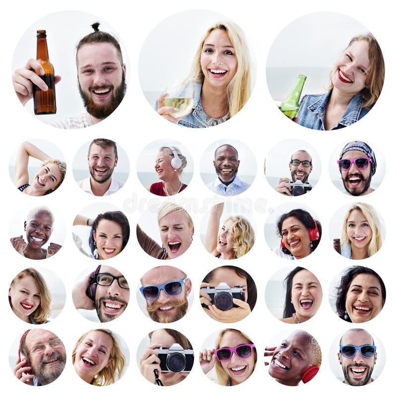 人套面孔变化人面概念 免版税库存图片