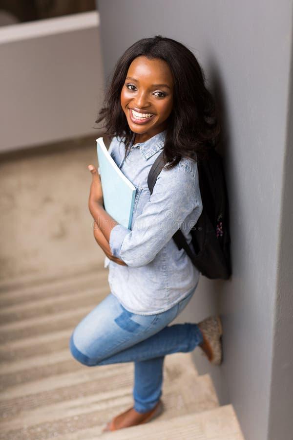黑人女大学生 库存照片