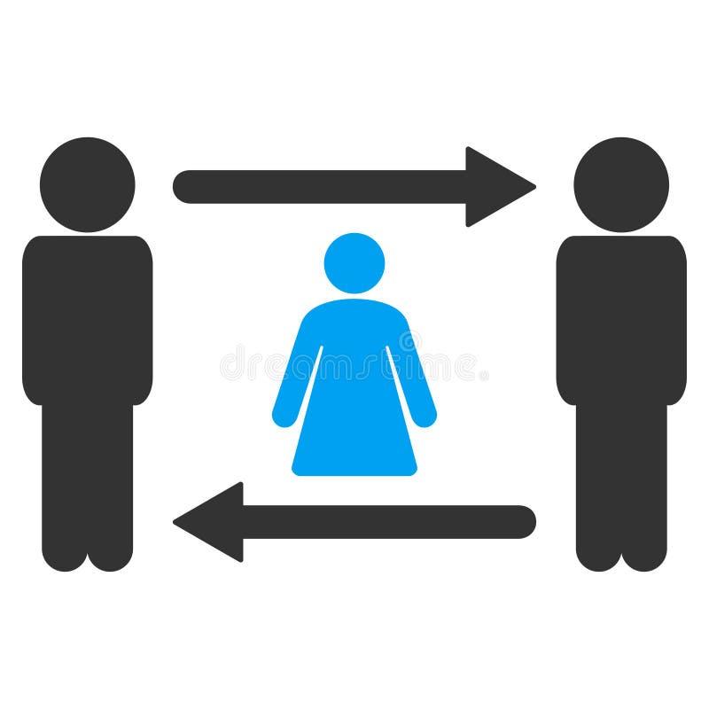 人妇女交换光栅象 库存例证