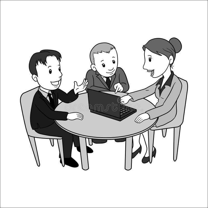 人妇女储蓄传染媒介Ilustration 库存例证