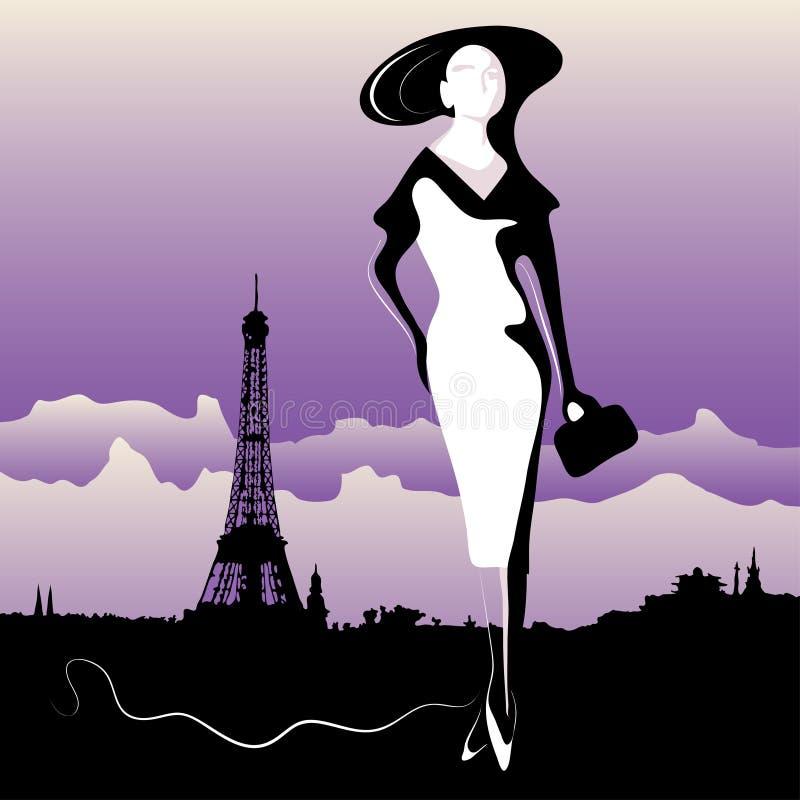 巴黎人妇女 向量例证