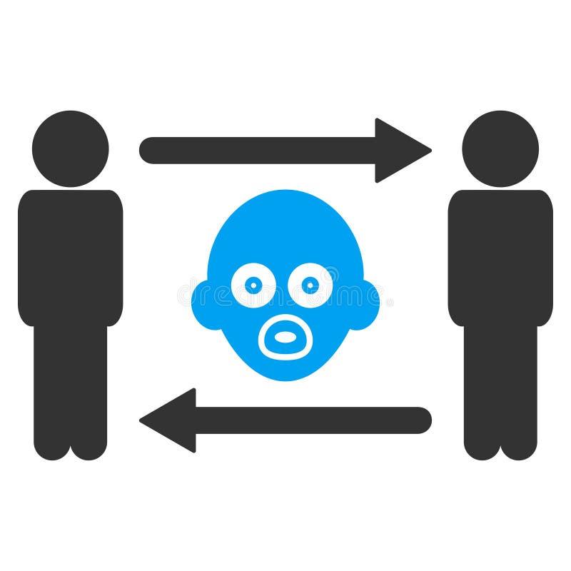 人婴孩交换传染媒介象 库存例证