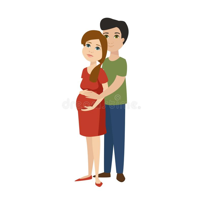 年轻人孕妇字符传染媒介 向量例证