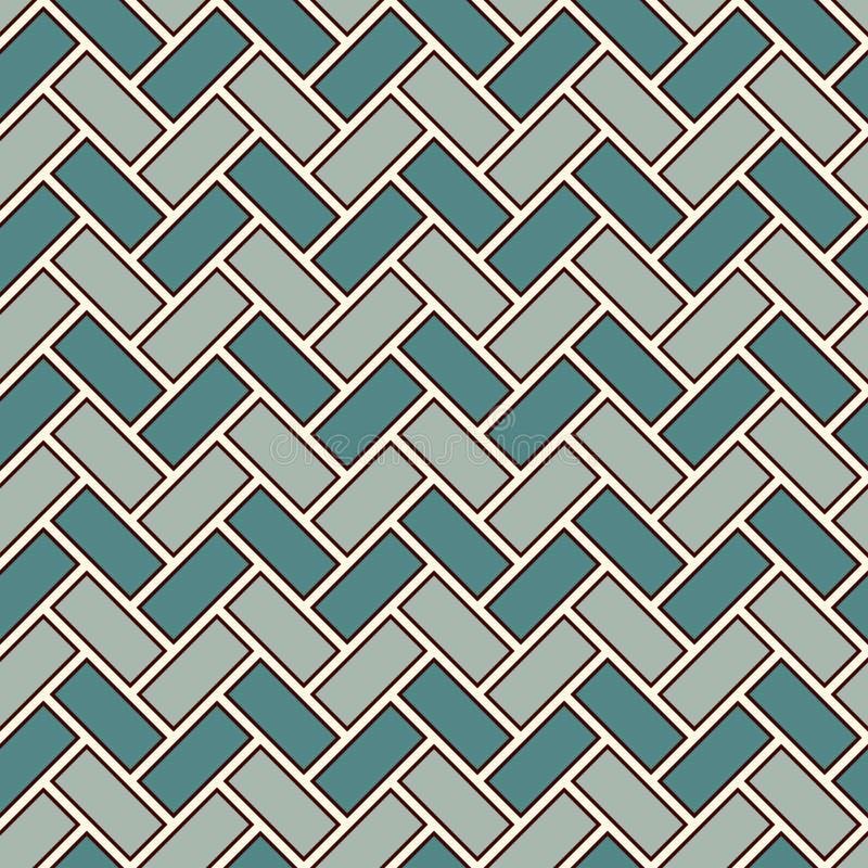 人字形墙纸 所有背景我自己的木条地板纹理 与重复的长方形瓦片的无缝的样式 经典几何装饰品 库存例证