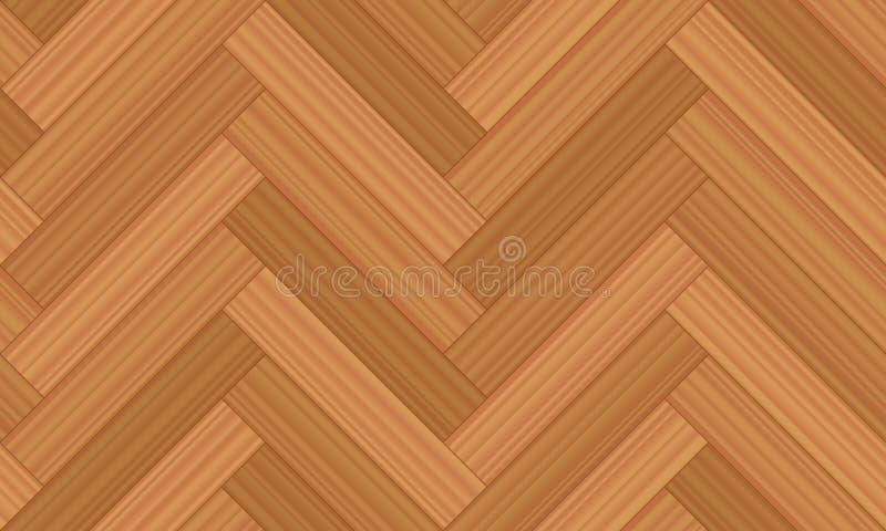 人字形木条地板无缝的木地板样式 向量例证