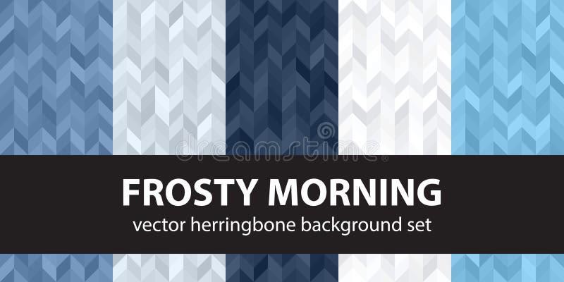 人字形样式集合冷淡的早晨 传染媒介无缝的木条地板 库存例证