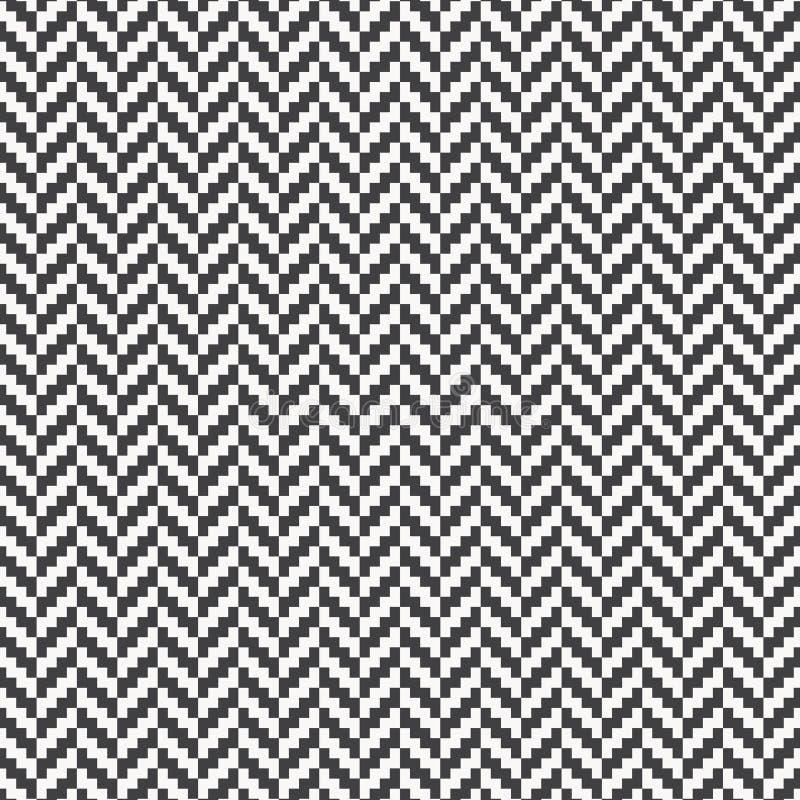 人字形样式 长方形平板嵌石装饰 与白色偏锋块铺磁砖的无缝的表面设计 地板金属砖 库存例证