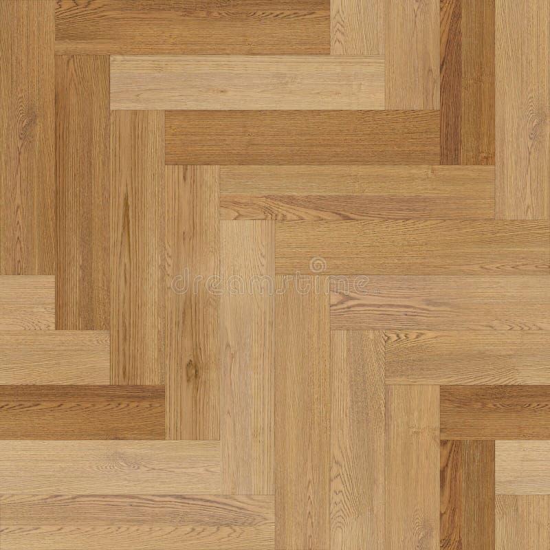 人字形浅褐色的无缝的木木条地板纹理 向量例证