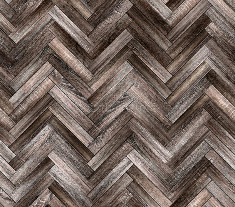 人字形自然老木条地板无缝的地板纹理 库存图片