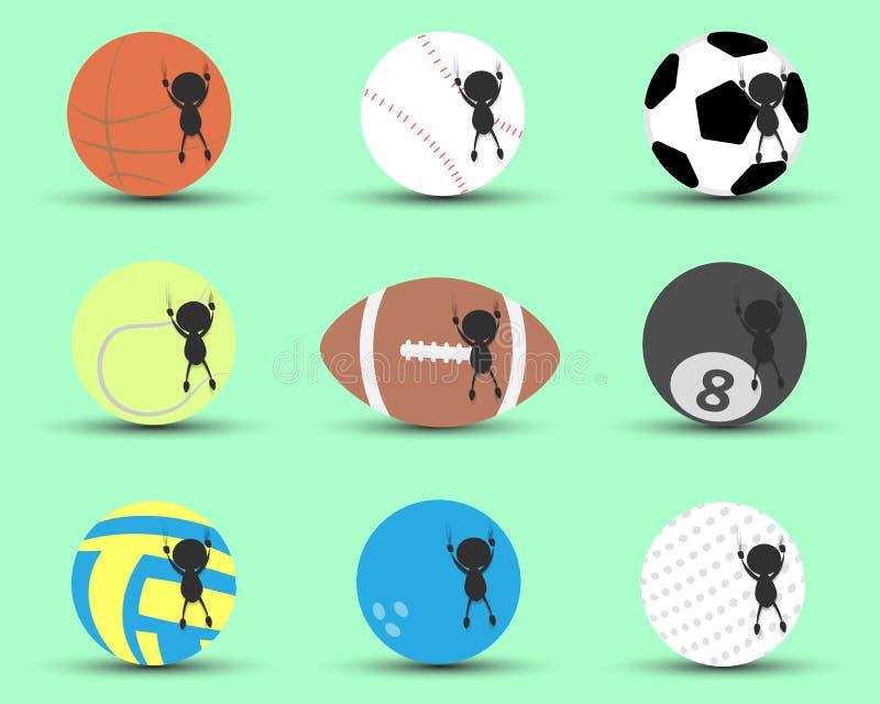黑人字符动画片吊和传动器防止的体育球对跌倒有绿色背景 平的图表 徽标 向量例证