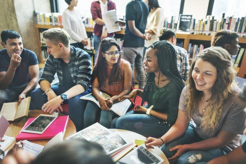 人学生友谊图书馆教育学校概念 库存图片