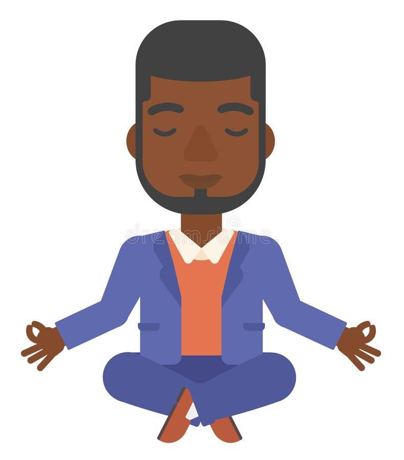 人实践的瑜伽 库存例证