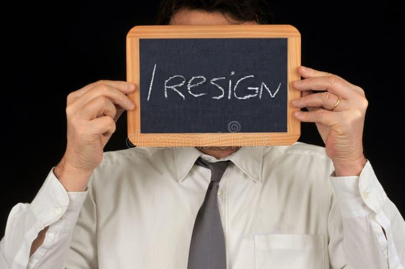 人宣称我辞职与学校板岩 向量例证
