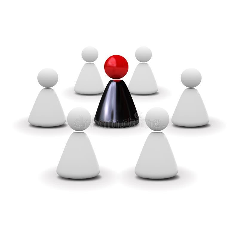 人小组摘要分开的模型  库存例证