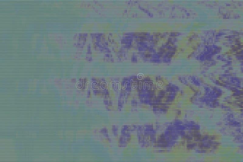 人工制品绿色vhs小故障背景,数字纹理 向量例证