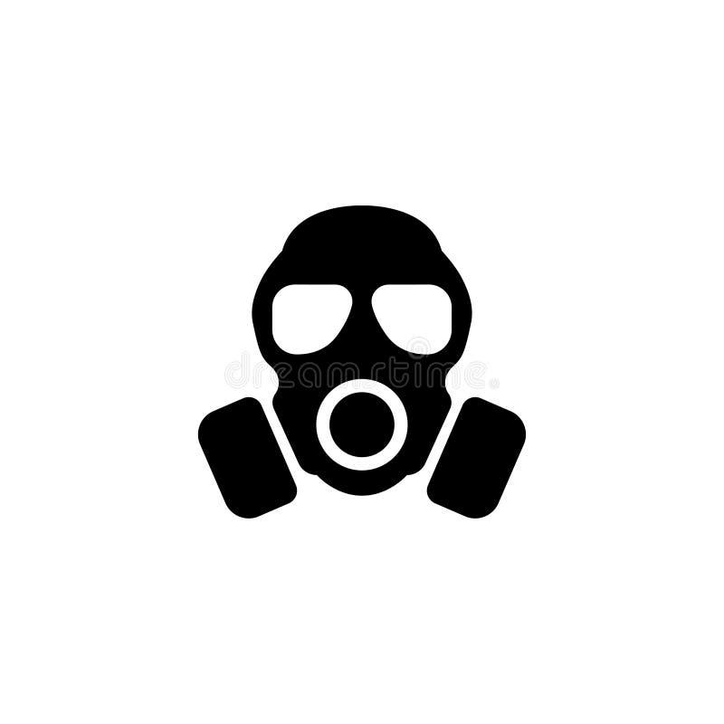 人工呼吸机,防毒面具平的传染媒介象 向量例证