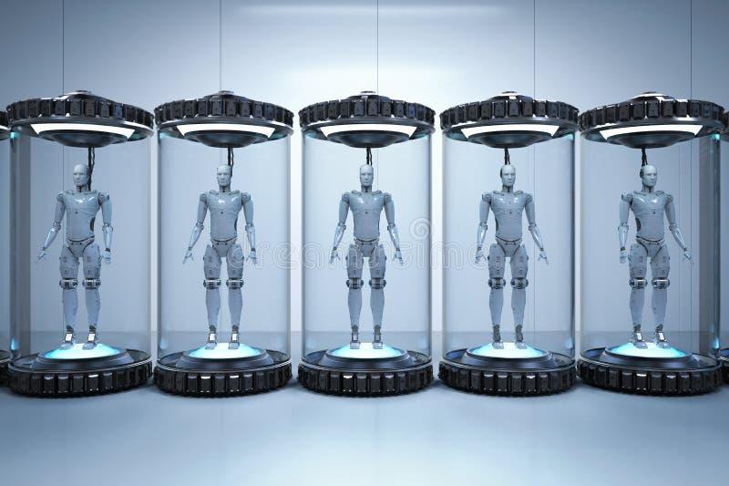 人工智能发展概念 库存例证