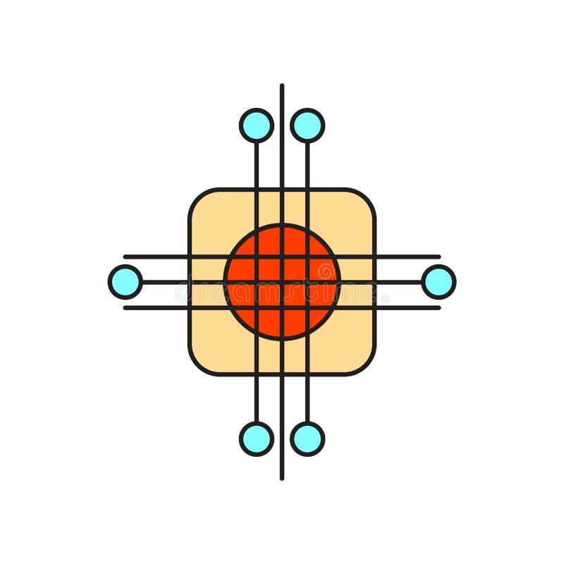人工智能在白色背景隔绝的象传染媒介,人工智能标志,技术标志 向量例证