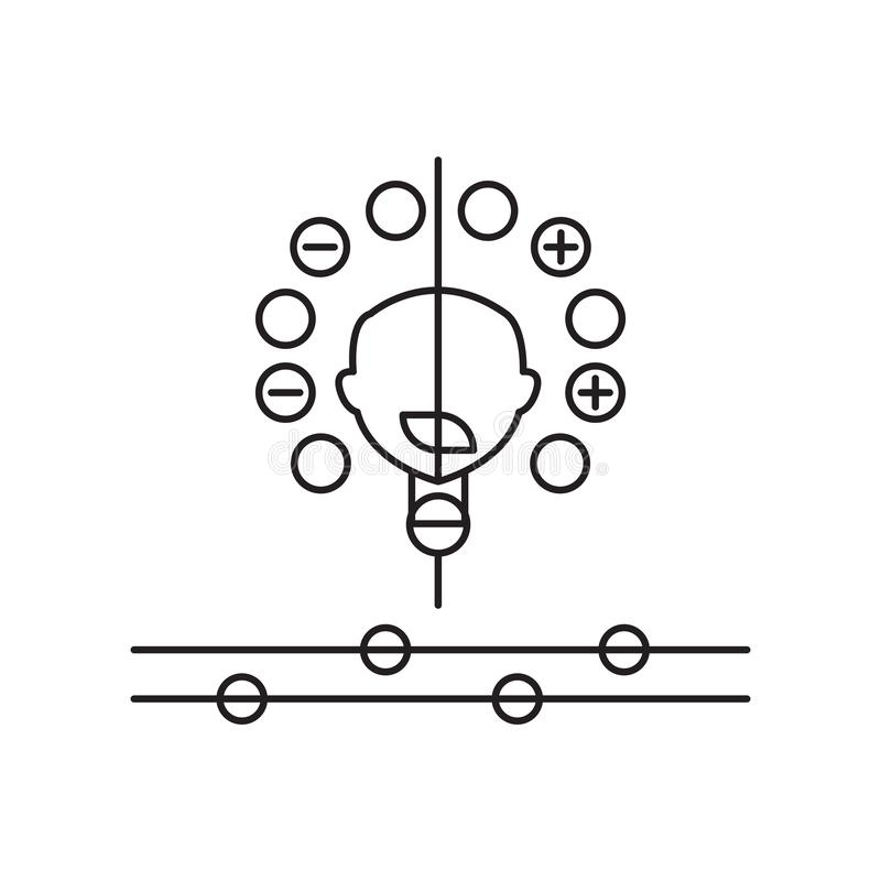 人工智能在白色背景隔绝的象传染媒介,人工智能标志 向量例证