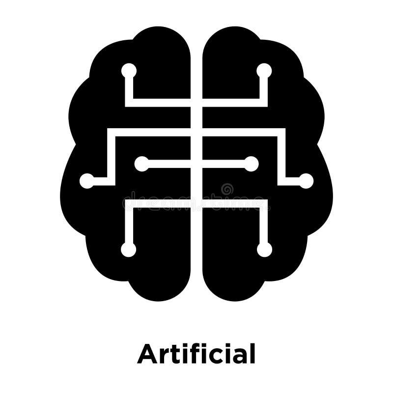 人工智能在白色背景隔绝的象传染媒介 向量例证