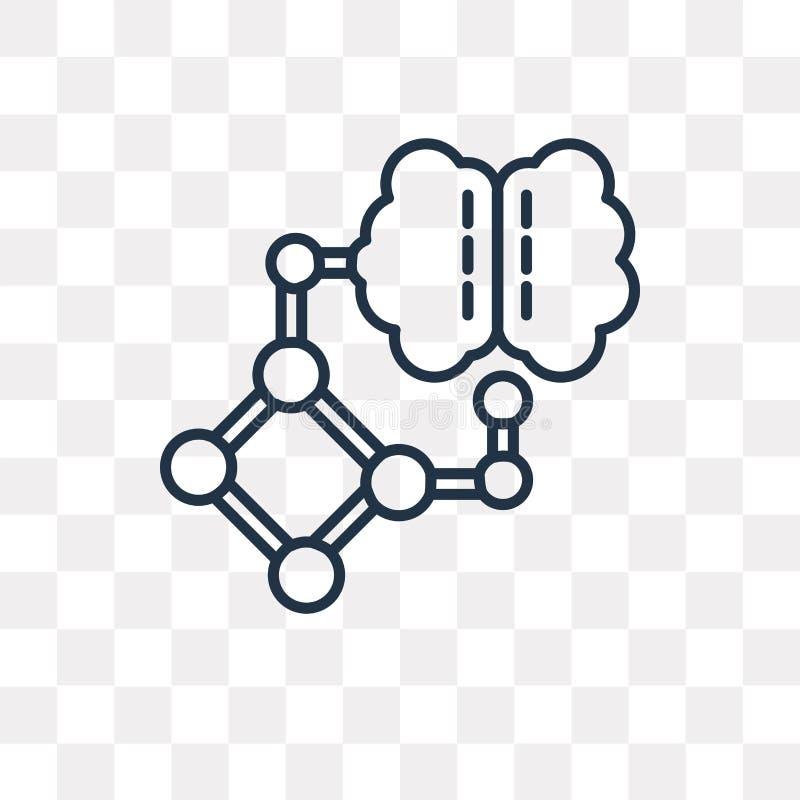 人工智能在透明后面隔绝的传染媒介象 库存例证