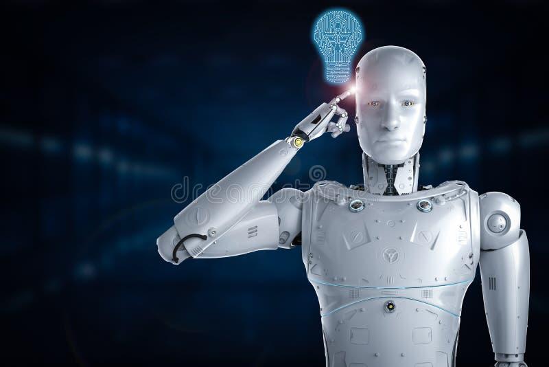 人工智能想法 库存例证