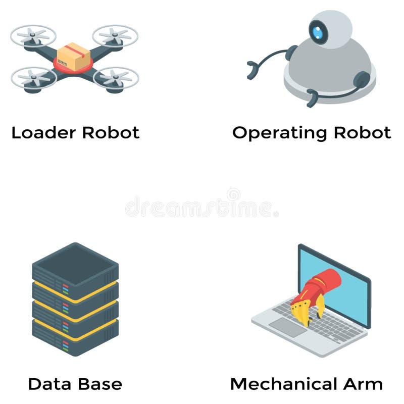 人工智能等量传染媒介集合 向量例证