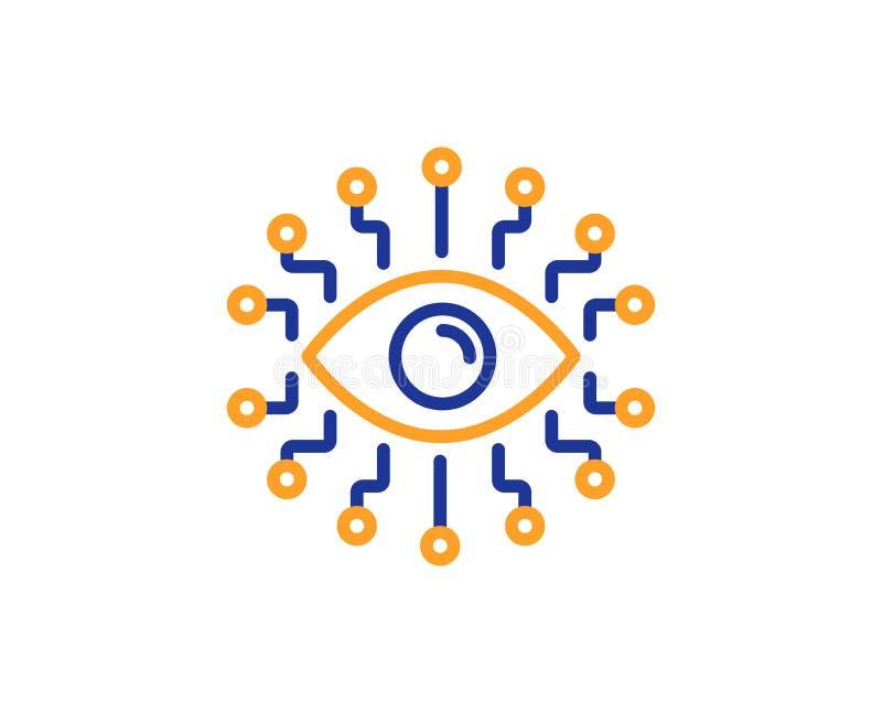 人工智能线象 全看见眼睛标志 向量 皇族释放例证