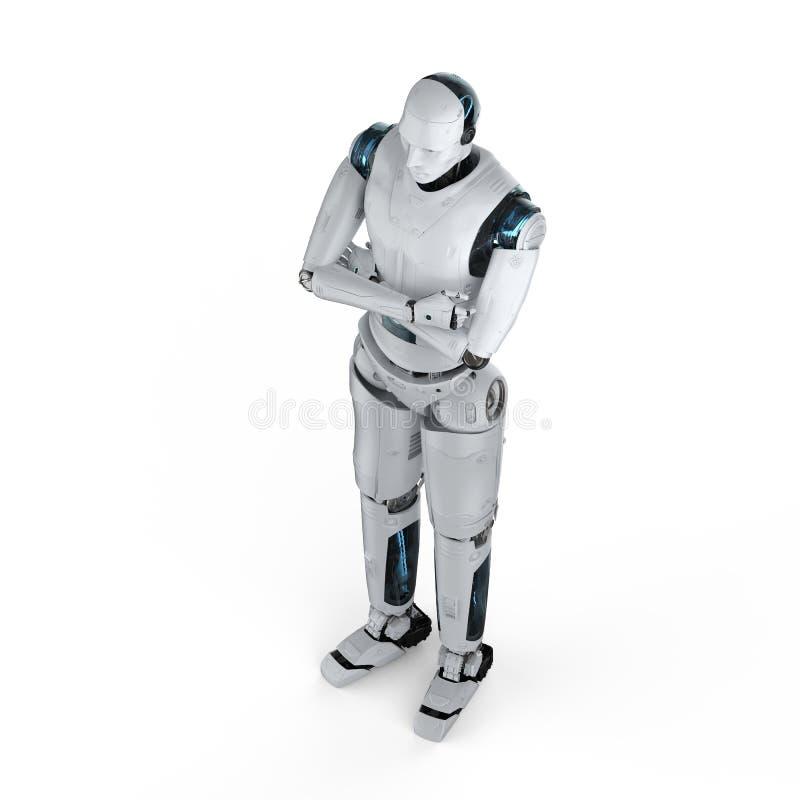 人工智能胳膊横渡了 皇族释放例证