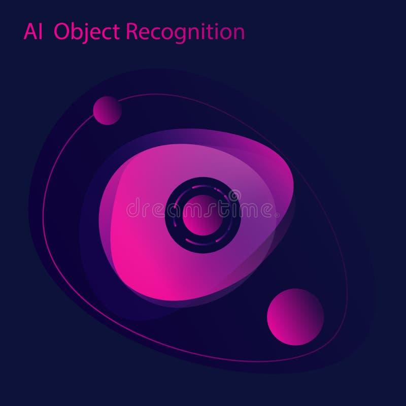 人工智能设计观念 扫描的眼睛 皇族释放例证