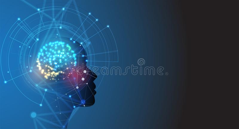 人工智能 技术网背景 真正浓缩 皇族释放例证