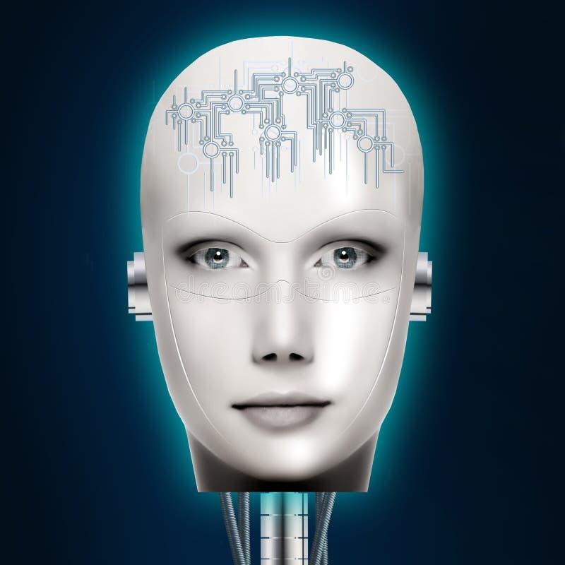 人工智能 靠机械装置维持生命的人 免版税图库摄影