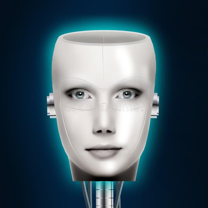 人工智能 靠机械装置维持生命的人 图库摄影