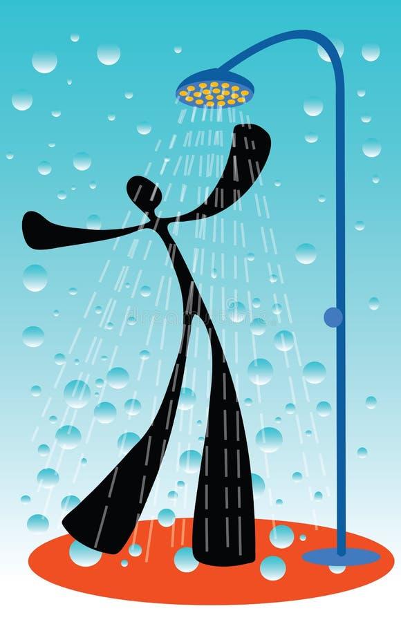人影子阵雨作为 向量例证