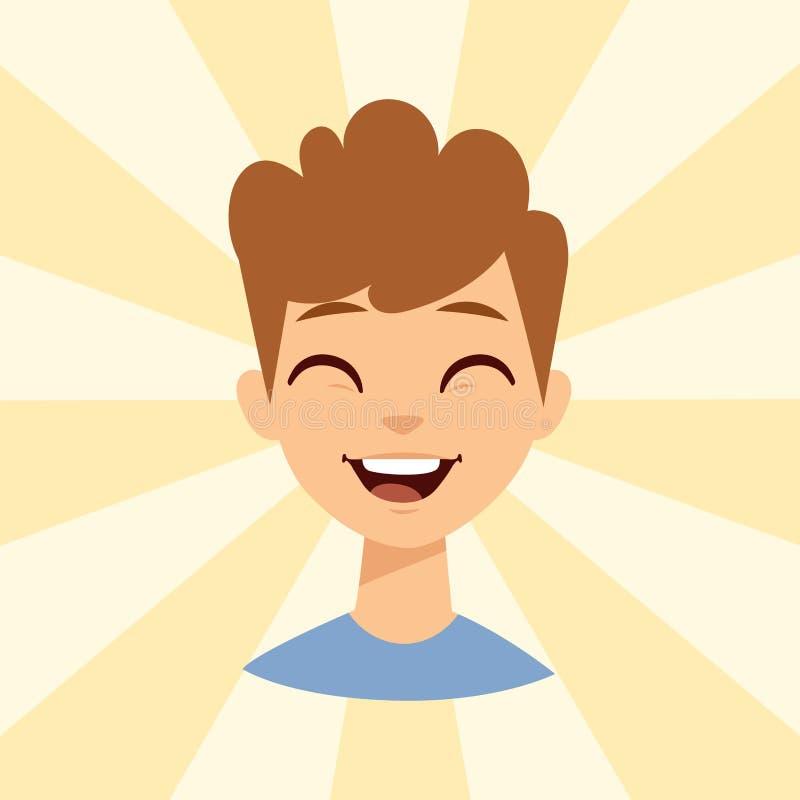 年轻人微笑的人白种人有吸引力的画象快乐的男性角色传染媒介例证 库存例证