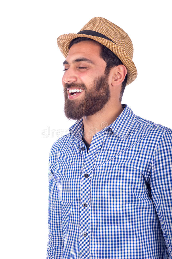 人微笑的年轻人 免版税库存图片