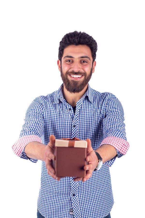 人微笑的年轻人 免版税库存照片