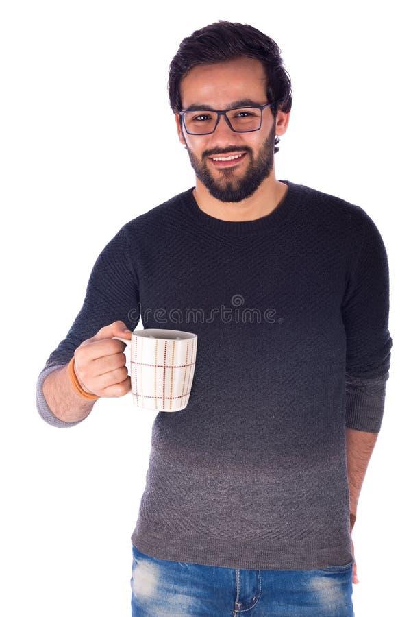 人微笑的年轻人 图库摄影