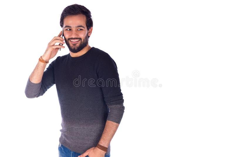 人微笑的年轻人 库存照片