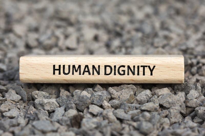 人性尊严-与词的图象联合价值的题目社区,词,图象,例证 库存图片
