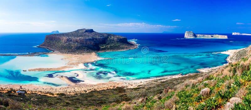 令人惊讶的希腊多数美丽的海滩 印象深刻的Balos海湾,哥斯达黎加 库存图片
