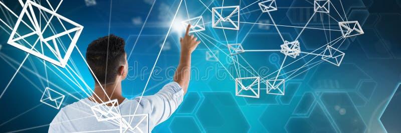 人感人的数字式电子邮件标志综合  免版税库存图片