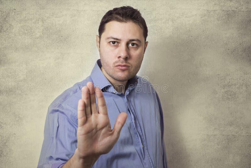人手信号中止 免版税库存图片