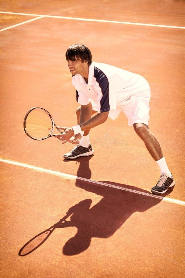 人打网球 图库摄影