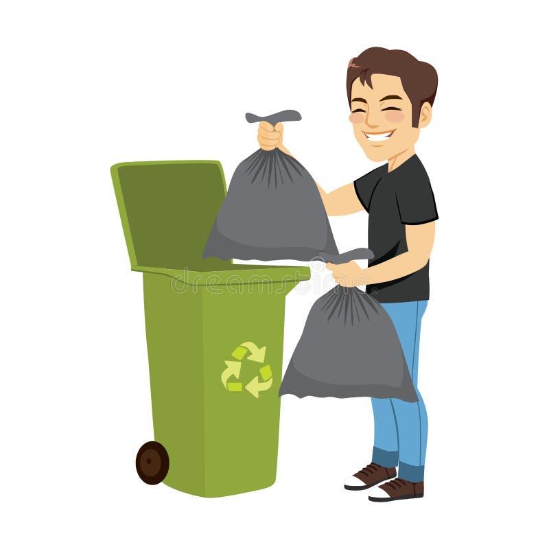 人投掷的垃圾 向量例证