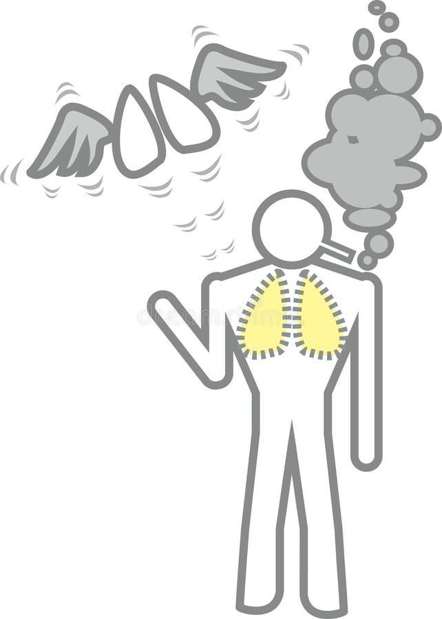 人抽烟 向量例证